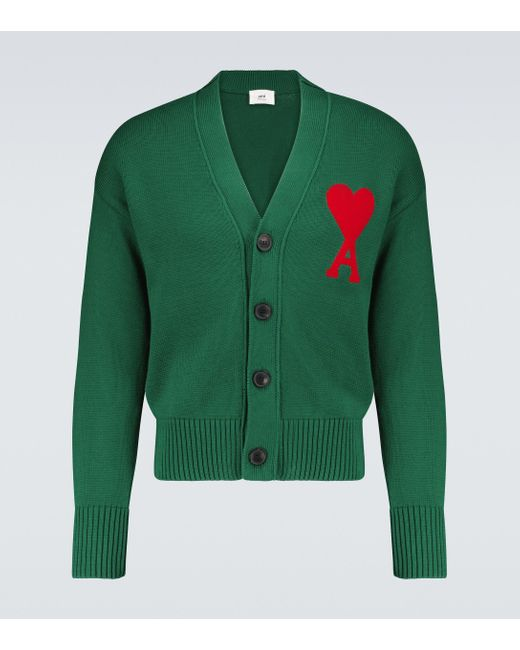 AMI Oversize-Cardigan Ami de Coeur in Green für Herren
