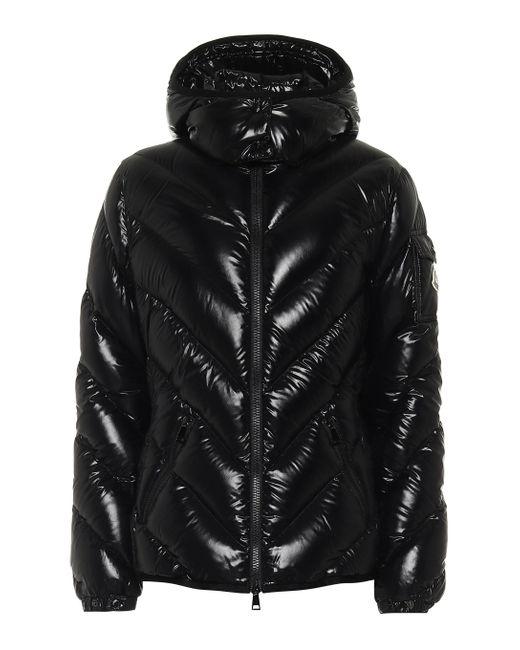 Moncler Black Brouel Hooded Padded Shell-down Coat