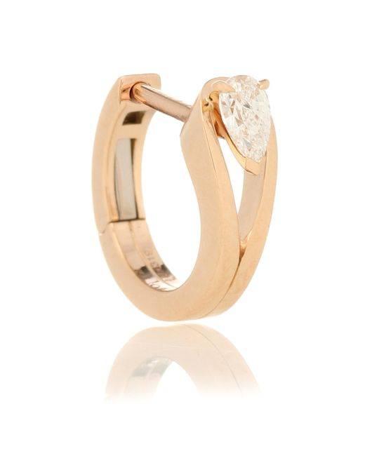 Boucle d'oreille unique Serti Inversé en or rose 18 ct et diamant Repossi en coloris Metallic