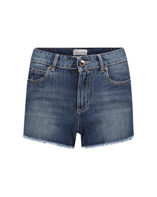 Shorts de jeans de tiro medio RED Valentino de color Blue