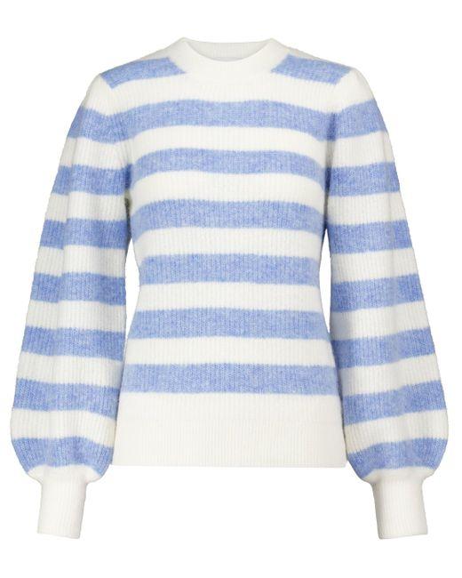 Jersey mezcla de alpaca y lana merino Ganni de color Blue