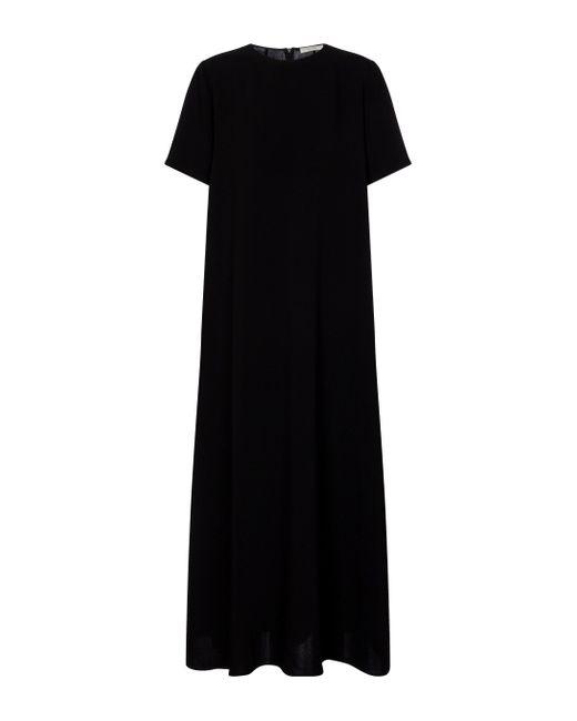 The Row Black Mirna Crêpe Maxi Dress
