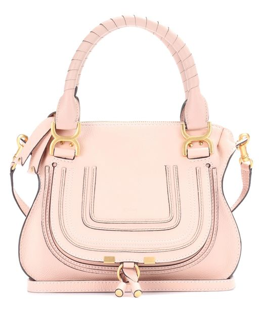 Chloé - Pink Marcie Medium Leather Shoulder Bag - Lyst