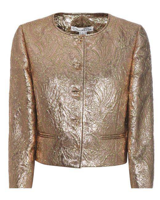 Oscar de la Renta - Metallic Jewel Brocade Jacket - Lyst