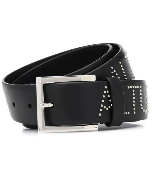 Altuzarra Black Studded Leather Belt
