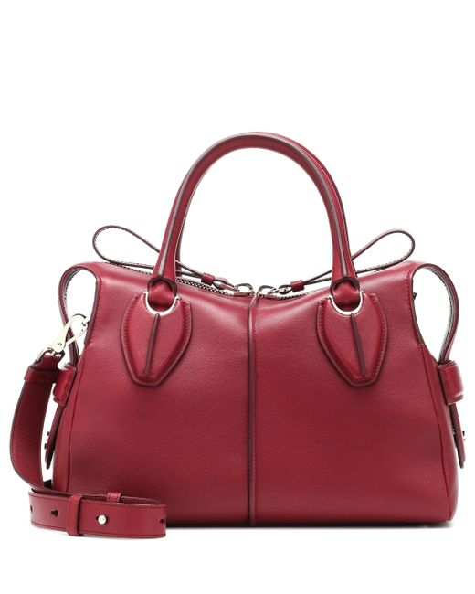 Tod's Red Top Zipped Tote
