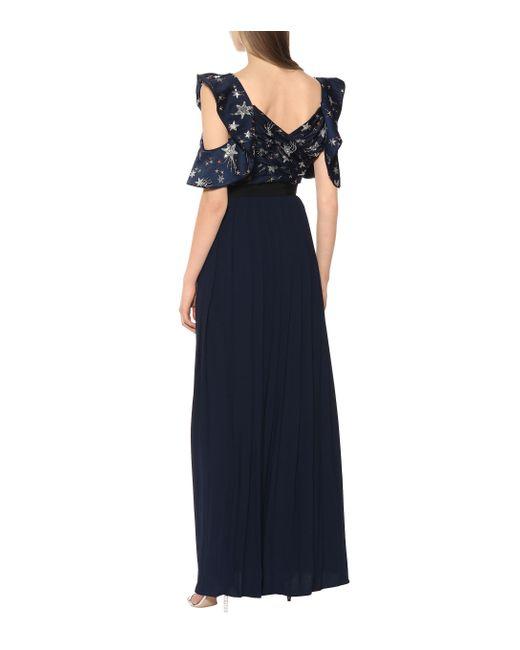 King Louie Kleid Emmy Dress Lily Royal Blue