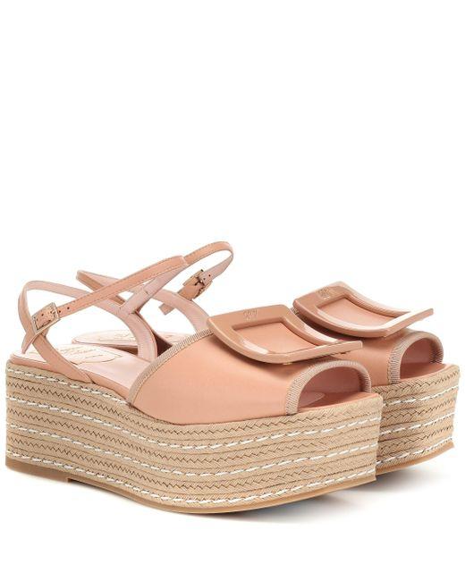Roger Vivier Pink Bikiviv 70 Espadrille Sandals
