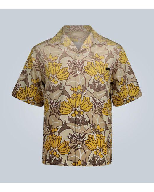 Prada Multicolor Bedrucktes Kurzarmhemd
