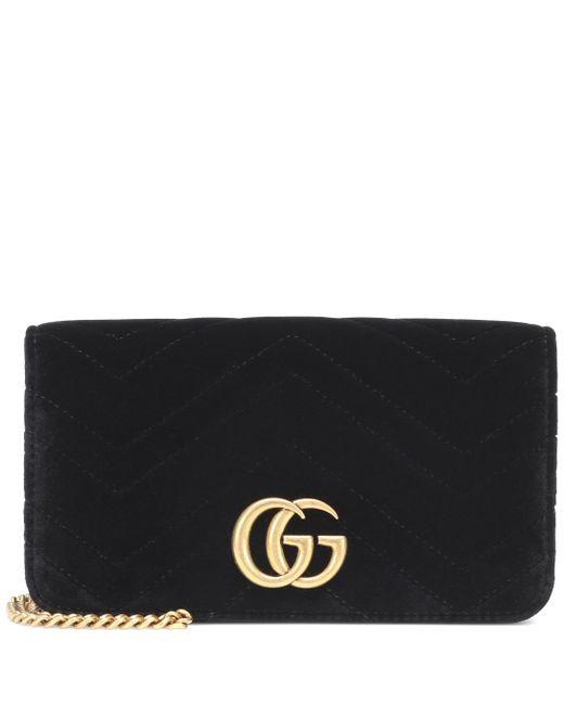 Gucci Black GG Marmont Super Mini Shoulder Bag