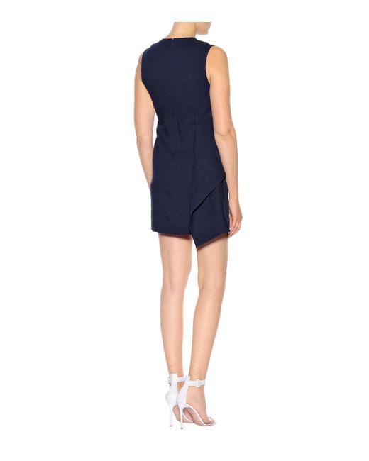 Diane von Furstenberg Blue Kleid mit Leinenanteil