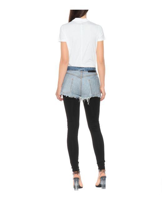 Leggins con shorts al contrario Unravel Project de color Black