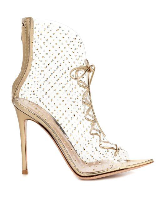 Gianvito Rossi Metallic Verzierte Ankle Boots Elly 105