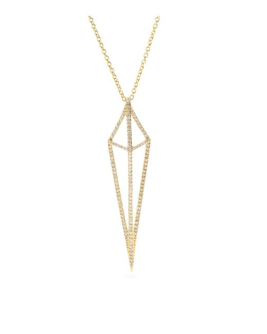 House of Waris | Lantern 18kt Yellow Gold Necklace With White Diamonds | Lyst