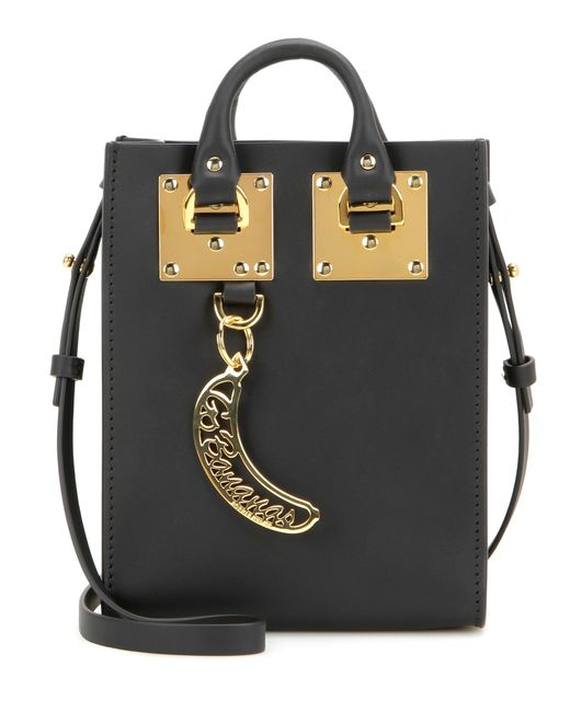 Sophie Hulme | Black Nano Albion Leather Tote | Lyst