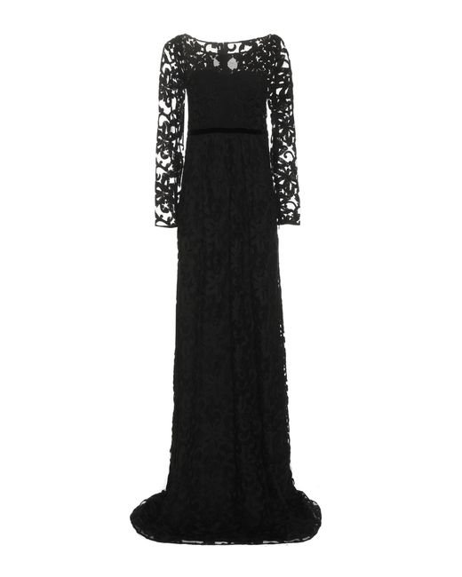 Burberry Prorsum | Black Embroidered Cotton-blend Tulle Gown | Lyst