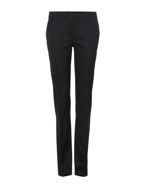 Stella McCartney | Black Anna Wool Straight-leg Trousers | Lyst