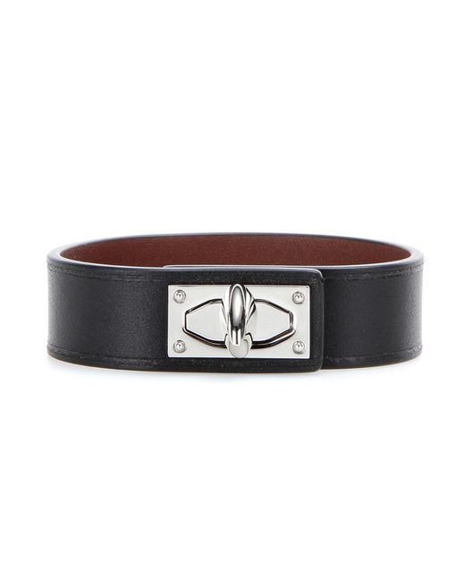 Givenchy | Black Shark Tooth Leather Bracelet | Lyst