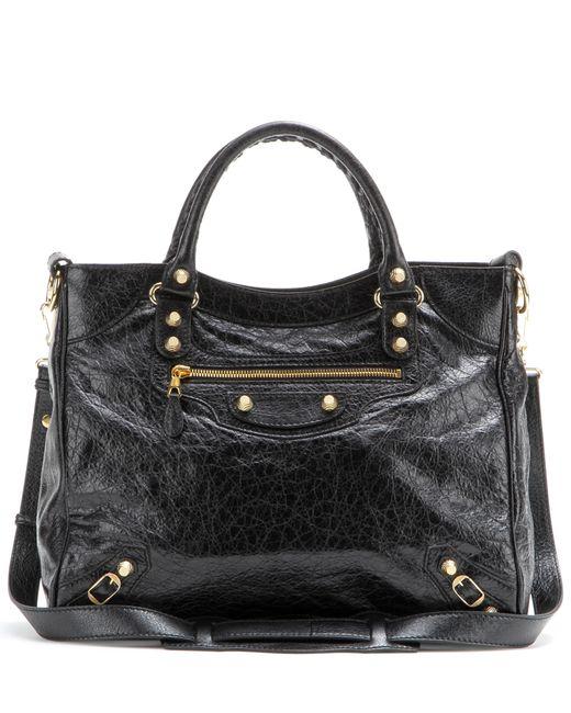 Balenciaga | Black Giant Velo 12 Leather Tote | Lyst