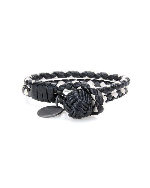 Bottega Veneta | Black Knot Intrecciato Leather Bracelet | Lyst