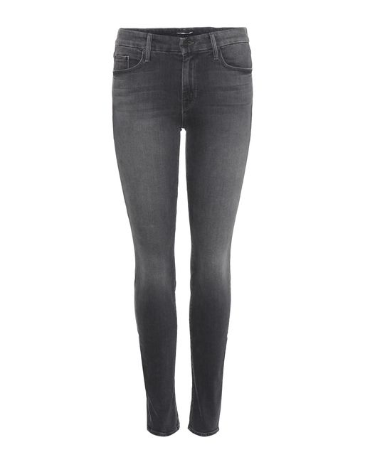 Mother | Gray The Looker Skinny Jeans | Lyst