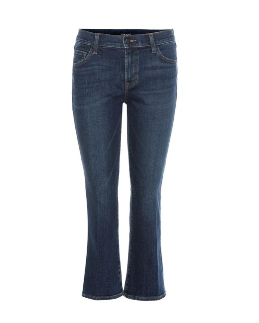 J Brand | Blue Selena Mid-rise Cropped Jeans | Lyst