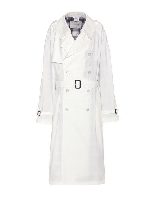 Vetements | White X Mackintosh Cotton Trench Coat | Lyst