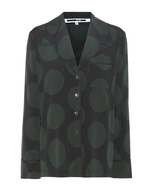 McQ Alexander McQueen   Green Pyjama Top   Lyst