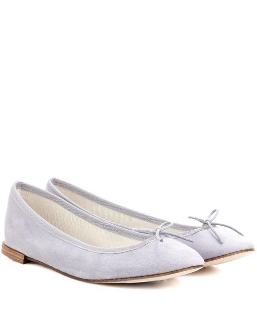 Repetto | Blue Cendrillon Suede Ballerinas | Lyst