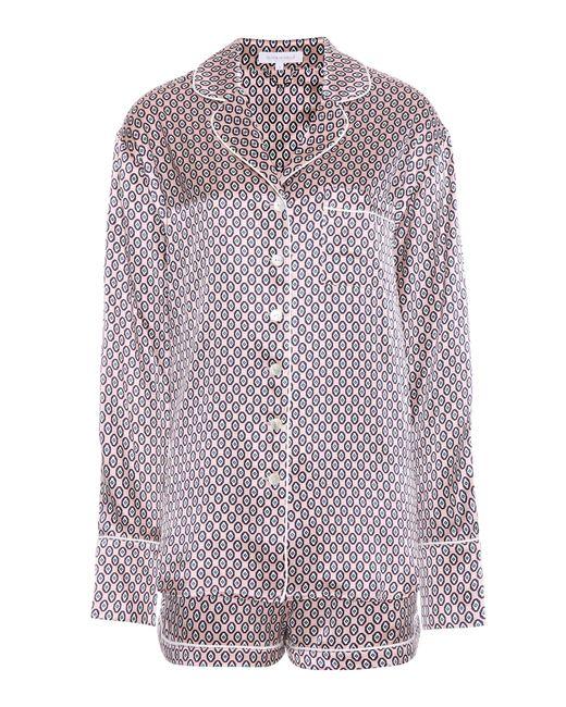 Olivia Von Halle | Pink Alba Zahra Printed Silk Pajamas | Lyst