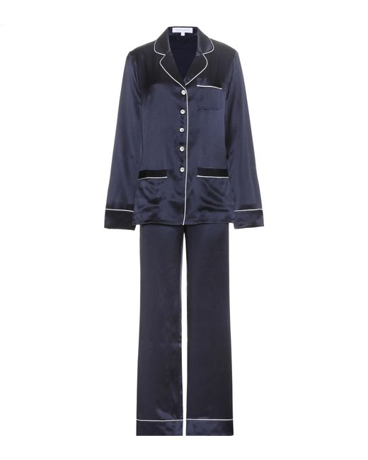 Olivia Von Halle   Blue Coco Silk Pyjamas   Lyst