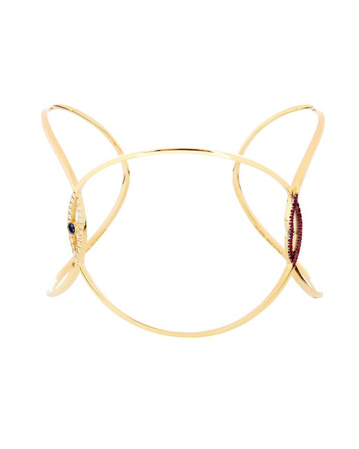 Delfina Delettrez | Metallic Eye Kiss You Earclipse Bracelet | Lyst