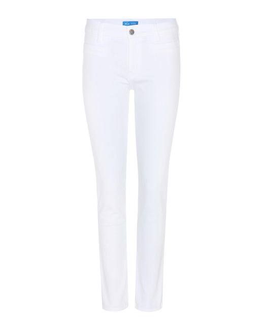 MiH Jeans | White Paris Cropped Jeans | Lyst
