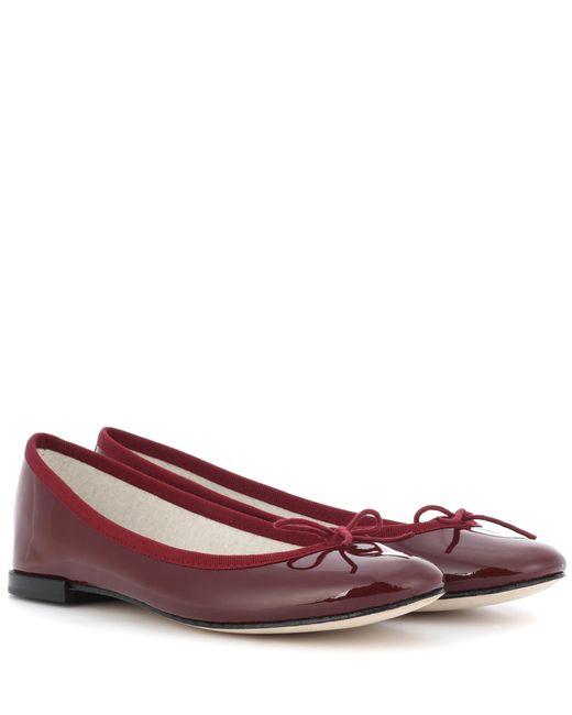Repetto | Red Cendrillon Patent Leather Ballerinas | Lyst