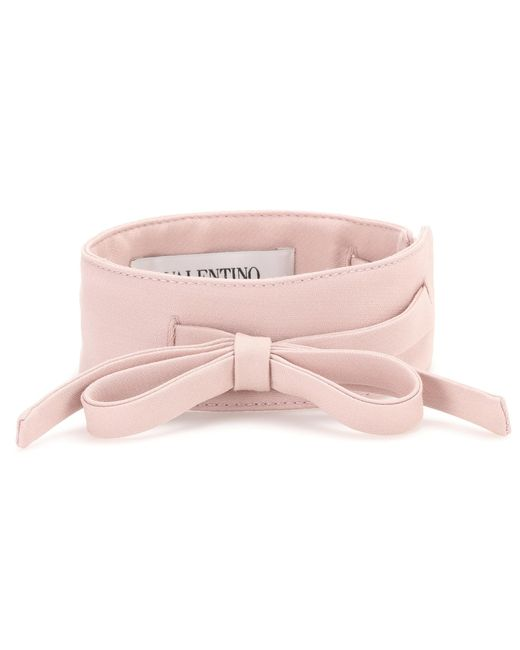 Valentino | Pink Virgin Wool And Silk Choker | Lyst