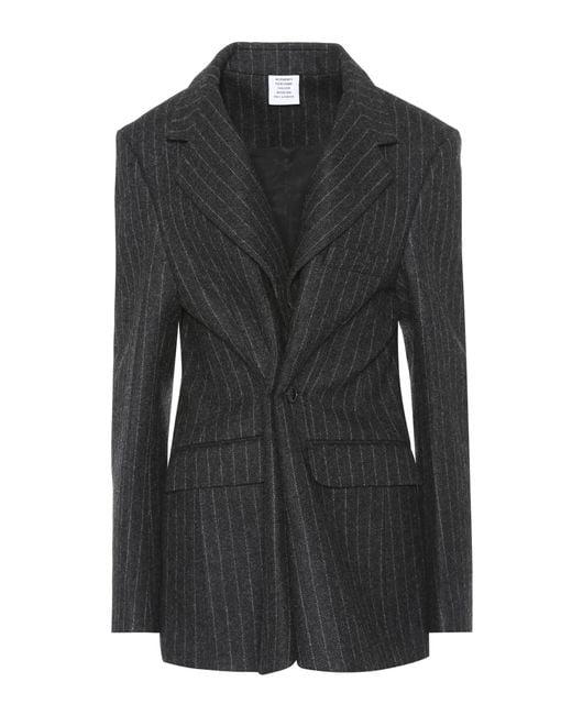 Vetements | Gray Pinstripe Wool Blazer | Lyst