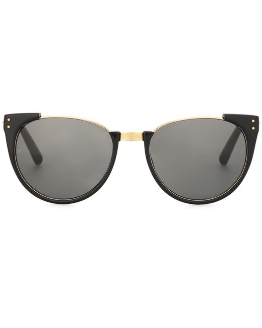 Linda Farrow | Black 136 C1 Cat-eye Sunglasses | Lyst