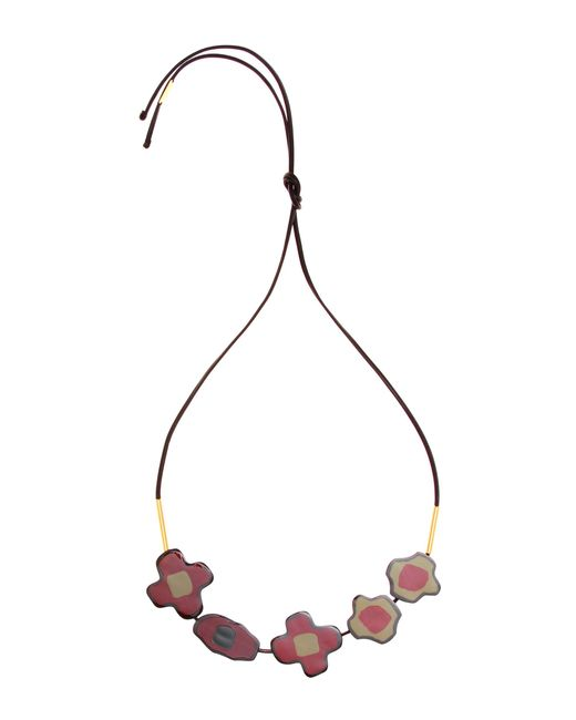 Marni | Black Embellished Leather Necklace | Lyst