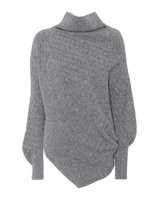 Stella McCartney | Gray Asymmetric Virgin Wool Sweater | Lyst