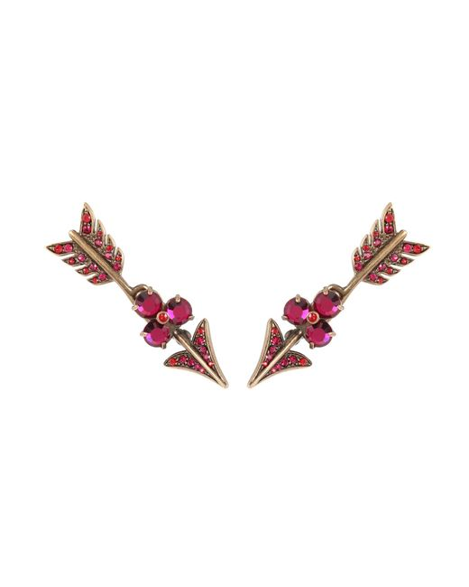 Valentino | Pink Crystal-embellished Earrings | Lyst