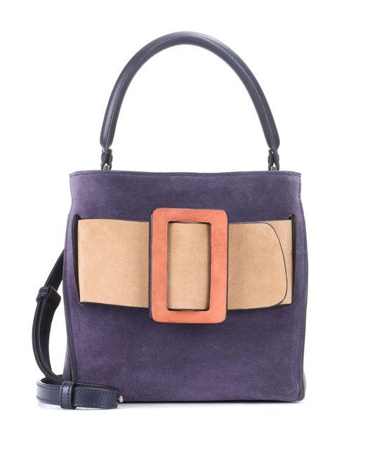 Boyy | Purple Devon 21 Suede Bucket Bag | Lyst