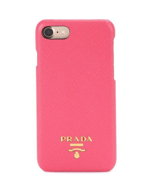 Prada   Pink Iphone 6 Leather Phone Case   Lyst