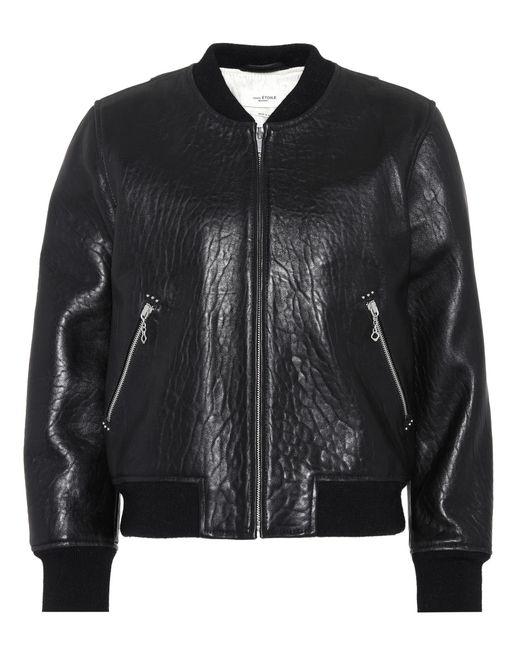 Étoile Isabel Marant | Black Kanna Leather Bomber Jacket | Lyst