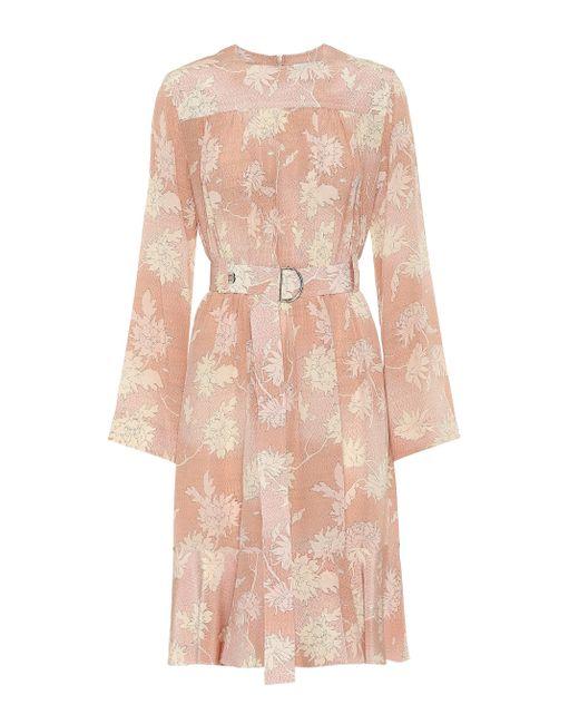 Chloé Pink Kleid aus Seidensatin