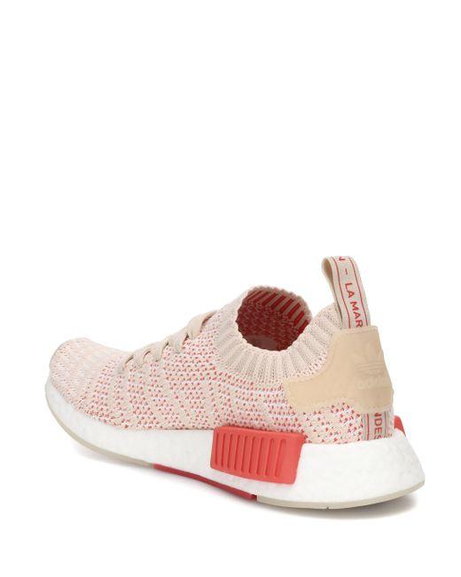 new product 9ba18 6ea50 Women's Pink Nmd_r1 Stlt Primeknit Sneakers