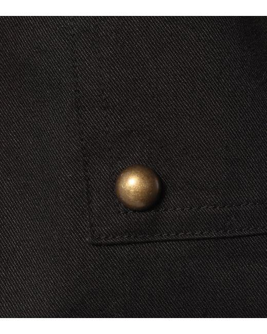 Short en coton mélangé Saint Laurent en coloris Black