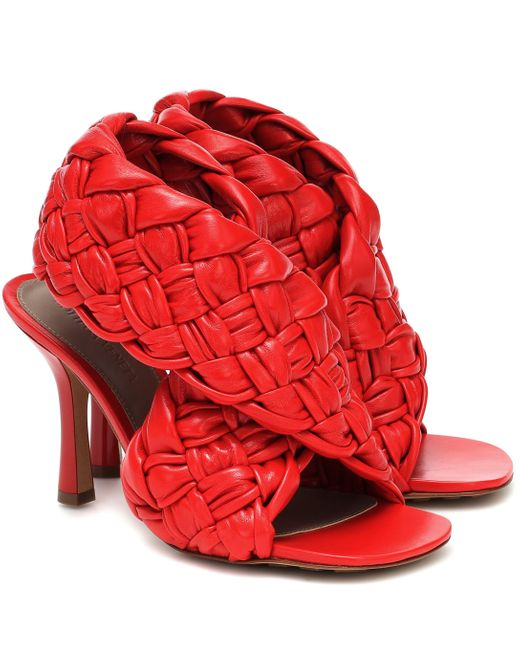 Bottega Veneta Red THE BOARD SANDALS