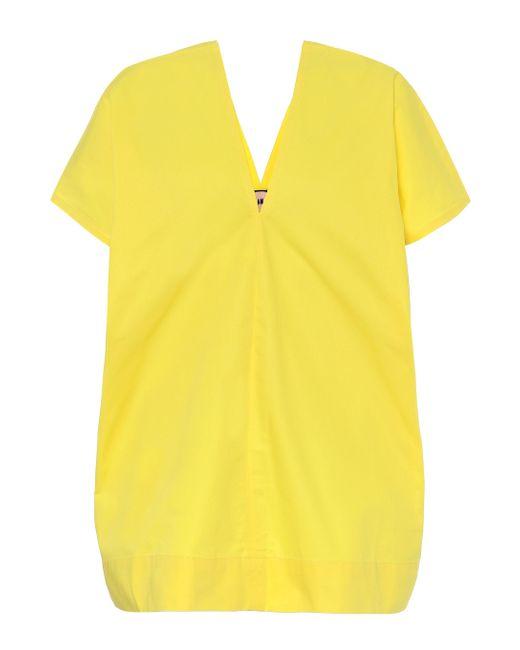 Plan C Yellow Cotton-poplin Shirt
