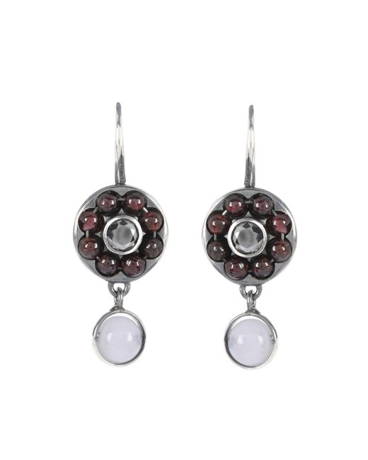 Bottega Veneta - Purple Beaded Sterling Silver Earrings - Lyst
