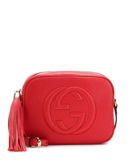 Gucci - Red Soho Disco Leather Shoulder Bag - Lyst